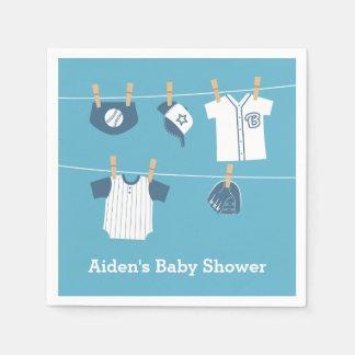 Sports Clothes Baseball Baby Shower Supplies Napkin