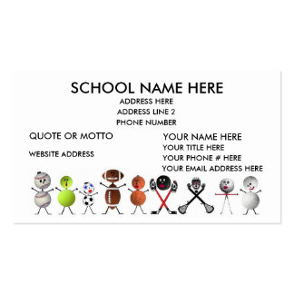 Sports Coach Double-Sided Standard Business Cards (Pack Of 100)