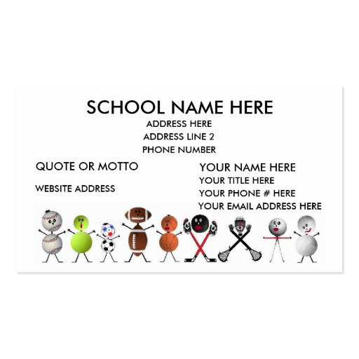 Sports Coach Business Card