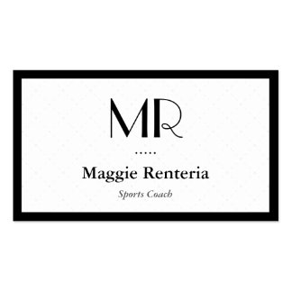 Sports Coach - Clean Stylish Monogram Double-Sided Standard Business Cards (Pack Of 100)