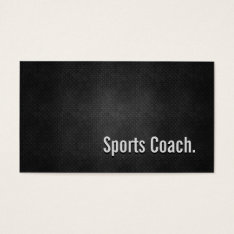 Sports Coach Cool Black Metal Simplicity Business Card at Zazzle