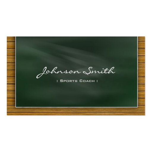 Sports Coach - Cool Chalkboard Business Cards