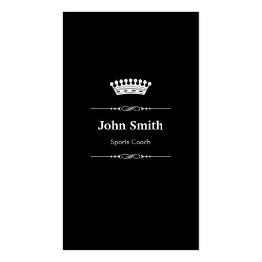 Sports Coach Elegant Royal Black White Business Card Templates