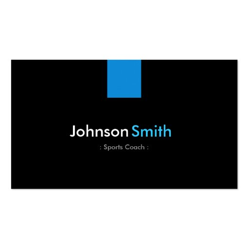 Sports Coach Modern Aqua Blue Business Cards