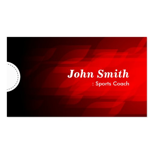 Sports Coach - Modern Dark Red Business Card Templates