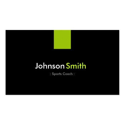 Sports Coach Modern Mint Green Business Card Templates