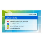Sports Coach - Modern Multipurpose Double-Sided Standard Business Cards (Pack Of 100)