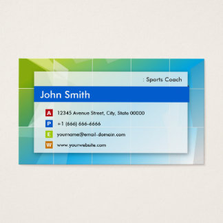 Sports Coach - Modern Multipurpose Business Card