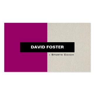 Sports Coach - Simple Elegant Stylish Business Card