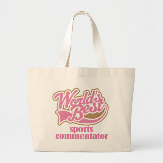 Sports Commentator Pink Gift Large Tote Bag