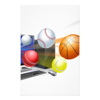 Sports computer app concept stationery