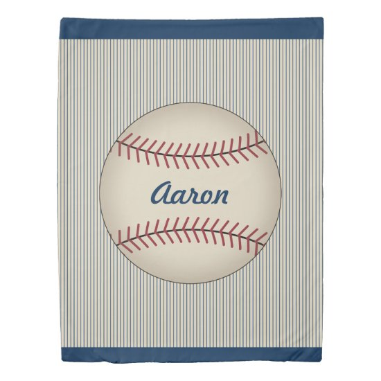 Sports Custom Kids Bedspread Baseball Duvet Cover
