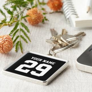 Sports Custom Name and Number keychain