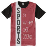 SPORTS custom text & background color t-shirt