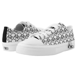 Sports Cycling Black White Abstract Printed Shoes
