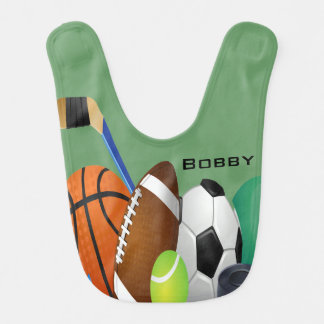 Sports Design Baby Bib