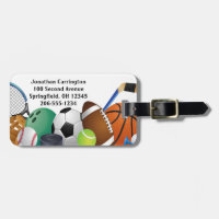 Sports Design Luggage Tags