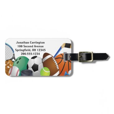 SjasisSportsSpace Sports Design Luggage Tags
