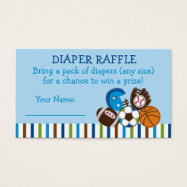 Sports Diaper Raffle Tickets