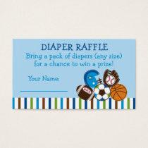 Sports Diaper Raffle Tickets
