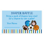 Sports Diaper Raffle Tickets Double-Sided Standard Business Cards (Pack Of 100)