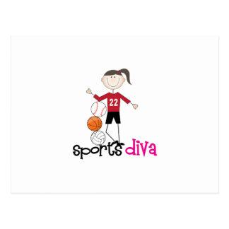 Sports Diva Post Card