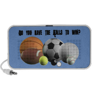 Sports Do you have the Balls to win? Portable Speaker