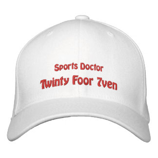 Sports Doctor Embroidered Hat