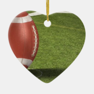 sports Double-Sided heart ceramic christmas ornament