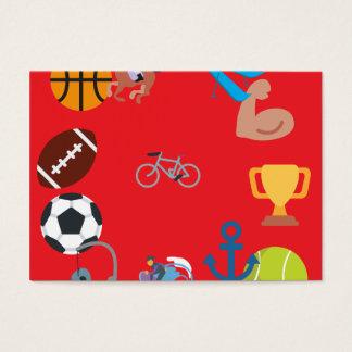 sports emoji business card
