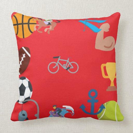 Throw Pillows Elegant : sports emoji throw pillow Zazzle