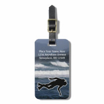 Sports Emphasis Scuba Diving ocean Luggage Tag