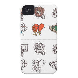 Sports equipment displayed against white iPhone 4 case