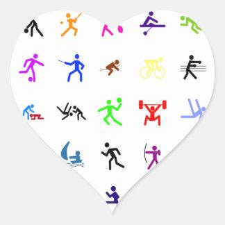 Sports Extreme Heart Sticker