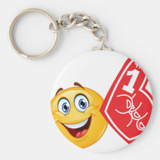 sports fan emoji keychain