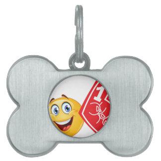 sports fan emoji pet tag