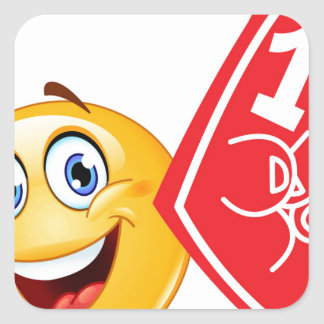 sports fan emoji square sticker