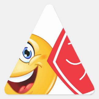 sports fan emoji triangle sticker