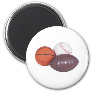 Sports Fan Gifts Basketball Baseball Football 2 Inch Round Magnet