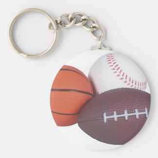 Sports Fan Gifts Basketball Baseball Football Basic Round Button Keychain