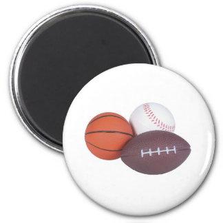 Sports Fan Gifts Basketball Baseball Football 2 Inch Round Magnet
