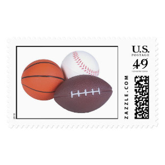 Sports Fan Gifts Basketball Baseball Football Postage Stamp