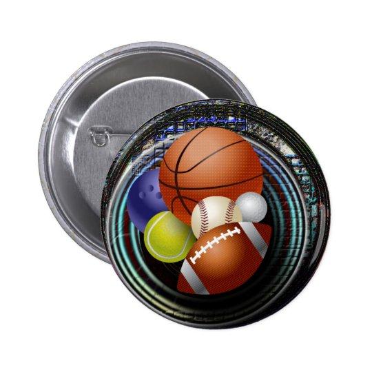 Sports Fan Pinback Button