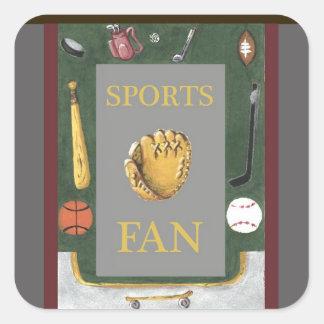 Sports Fan Sticker with Equipment