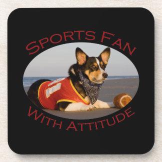 Sports Fan with Attitude Coaster