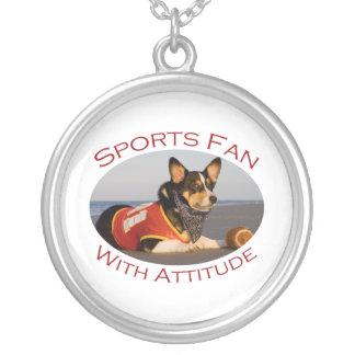Sports Fan with Attitude Custom Necklace
