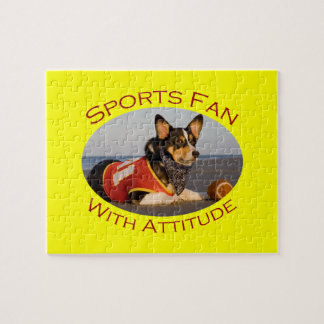 Sports Fan with Attitude Jigsaw Puzzle