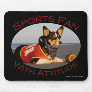 Sports Fan with Attitude Mouse Pad