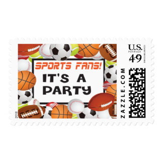 Sports Fans Party Stamp