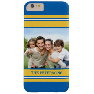 Sports Fans Striped Custom Photo Barely There iPhone 6 Plus Case